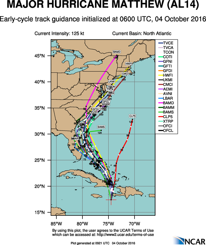 """HURRICANE MATTHEW: Phase 2--""""The Turn"""" - Page 40 Aal14_2016100406_track_early"""