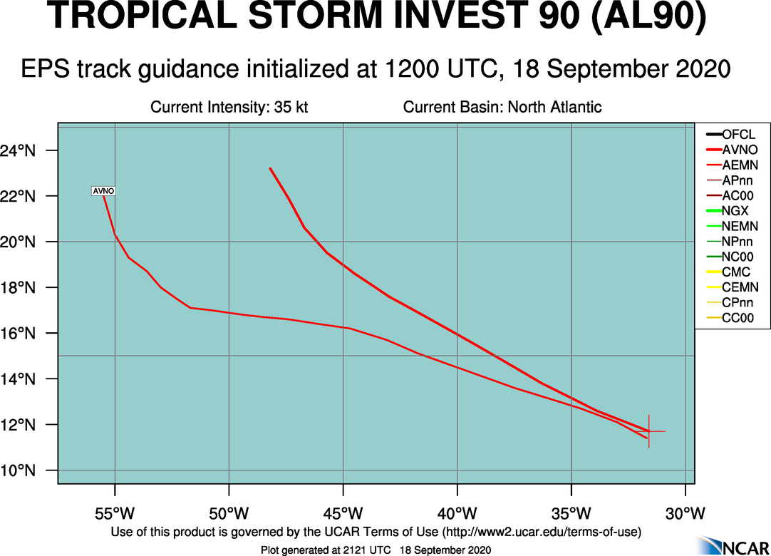 Invest 90l 2020 Hurricane Season Track The Tropics Spaghetti Models Hurricane Season 2020
